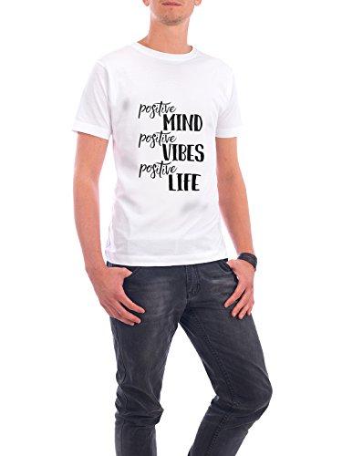 """Design T-Shirt Männer Continental Cotton """"Positive Minds"""" - stylisches Shirt Typografie von Melanie Clarke Weiß"""