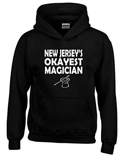 T-Shirtshock Kapuzen-Sweatshirt fur Kinder Schwarz GEN0319 New Jerseys Okayest Magician - New Jersey-kinder Sweatshirt