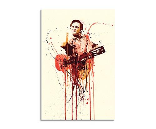 Paul Sinus Art Johnny-Cash_90x60-SA Wandbild Leinwand, 90 x 50 x 3 cm, mehrfarbig