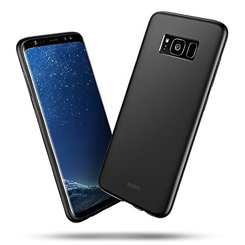 Galaxy S8 Case, ESR Ultra Thin Black Soft Gel TPU