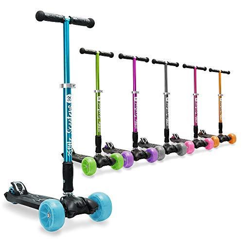"""3Style Scooters® RGS-3 Big Kids Monopattino a Tre Ruote - Perfetto per Bambini dai 7 Anni in sù - Design Pieghevole, Ruote da 2\"""" Nere per impieghi gravosi, Altezza del Manubrio Regolabile - Blu"""