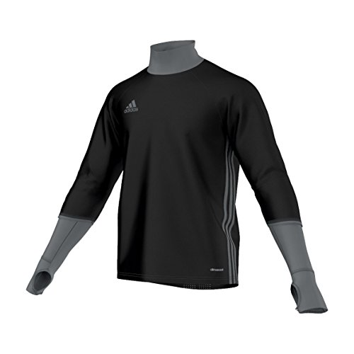 Adidas felpa per adulti con16 TRG TOP, Unisex, Sweatshirt Con16 Trg Top, Black/Dark Grey/Vista Grey, XS