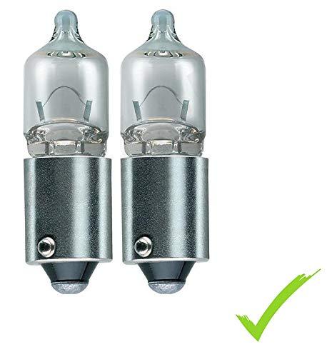 2-er SET Auto Lampen H6W 12V 6W BAX9s Glühlampe Leuchte Fahrzeuglampe Kennzeichenbeleuchtung Schalttafelbeleuchtung Heckleuchte Bremsleuchte Parkleuchte vorne