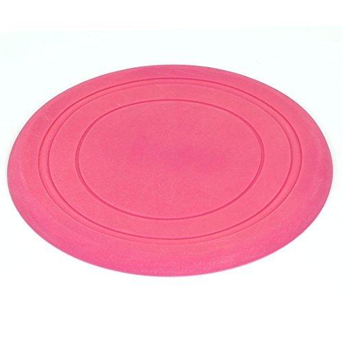 DealMux redonda para mascotas Adiestramiento de perros perrito de Fetch disco volador del juguete del juego folleto del disco, Rosa