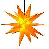 Großer 3D-Weihnachtsstern Ø 100 cm gelb Adventsstern beleuchtet wetterfest für außen Garten