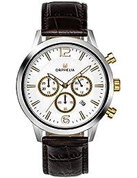 f4d4acc35711 ORPHELIA Reloj de Pulsera para Hombre cronógrafo Tempo Black Cuero