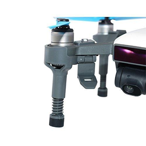 Rantow Liberación rápida portátil para aumentar el tren de aterrizaje Protector de la cámara del cardán de los estabilizadores de la extensión de la pierna para DJI Spark Drone