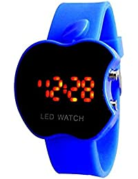 Madhav Fashion Apple Led Blue Watch For Child And Boys