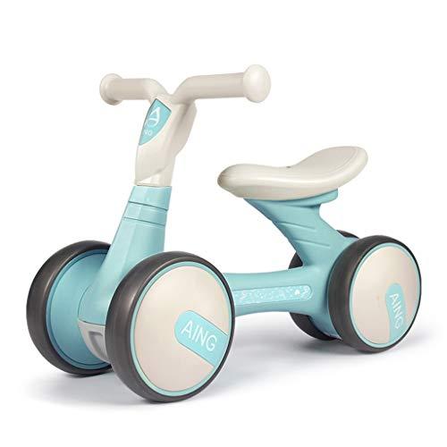 Baby Balance Bikes Kein Pedal Fahrrad Baby Walker Toys Rides Jungen Mädchen 1-3 Jahre alt Babys erstes Fahrrad (Farbe : Blau)