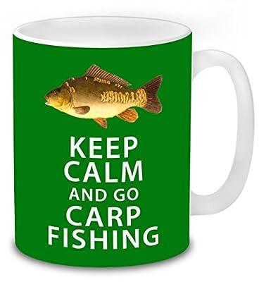 Keep Calm and go Carp Fishing, Fishing Mug Carp Fishing Funny Novelty Coffee Tea Work Mugs Fishing Gifts Idea. from total-tees