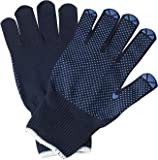 Strickhandschuhe Größe 9 Feinstrick blau Baumwolle einseitig genoppt Preis per 12 Stück