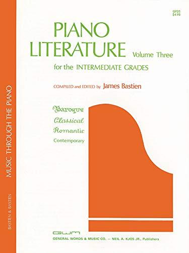 Bastien Piano Literature Volume 3: Intermediate Grades: Noten für Klavier