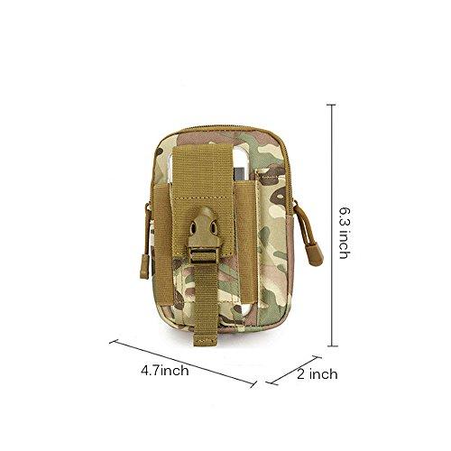 ouksome Tactical MOLLE EDC Tasche Kompakt Outdoor Mehrzweck-Utility Gadget Werkzeug Gürtel Taille Tasche Pack CP Camo