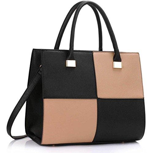 LeahWard Women's Large Tote Shoulder Bags School College Handbags 061 Test