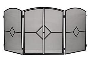 Crannog Fire Guard/Stove Screen H32 Fire Screen with Front Door Safe Fire Guard