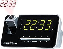 Radio despertador con proyector | pantalla LED de 1,2  atenuable (3 niveles) o apagable | memoria para 10 emisoras | Snooze |  adormecedora | dos alarmas integrados y radio | digital proyector