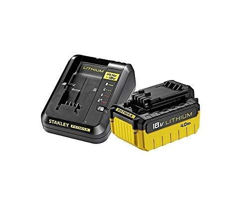 STANLEY FMC694M1-QW Fatmax Pacco con 1 Batteria 4Ah e Caricatore 2 Am