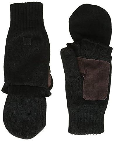 Highlander Falher Warm Knitted Gloves/Mitt - Black, Large