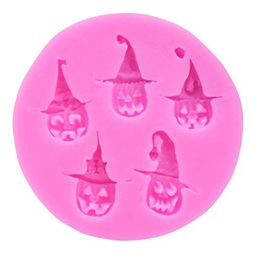 n-Schokoladenformen Halloween DIY Fondant Kuchen Süßigkeiten Gelee Süßigkeiten Kuchen Kuchen Kuchen Kuchen Süßigkeiten Kuchen Kuchen Kuchen Kuchen Kuchen Kuchen, Silikon, Rosa ()
