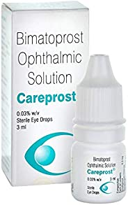 Careprost for eyelash and eyebrows growth with Free Applicator Brush