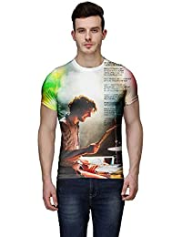 Wear Your Mind Multi-Coloured Poly Cotton Round Neck Printed T-shirt For Men CST046_M