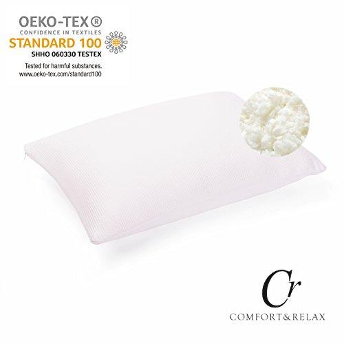 Cr Kopfkissen mit Viscoschaum-Füllung, abnehmbarem, waschbaren Baumwollbezug, weiß, L x B x H: 135 cm x 35 cm x 12 cm