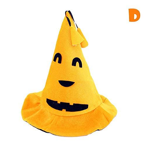 ZHRUI Halloween Cos Kürbis Hut Kürbis Motive Lint Top Orange Hüte (Farbe : D)