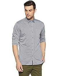 Duke Men's Solid Slim Fit Casual Shirt