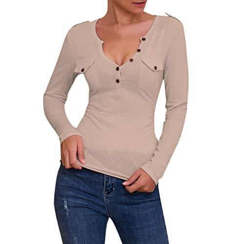 TEFIIR Sweatshirt für Damen, Oktoberfest, Leistungsverhältnis Daily Office Langarm Tops mit V-Ausschnitt Bluse Solides Freizeit-T-Shirt Geeignet für Freizeit, Dating und Urlaub (Rost-farbigen Stiefel)