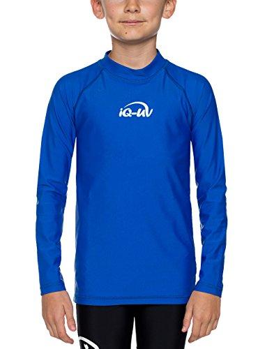 Schwimmen Shirt Mädchen Langarm (iQ-Company Kinder UV Kleidung 300 Shirt Youngster Long Sleeve, Dark-Blue, 152, 7361222445)