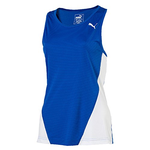 PUMA Mädchen Cross The Line Singlet W Tank Top, Team Power Blue White, 128 Preisvergleich