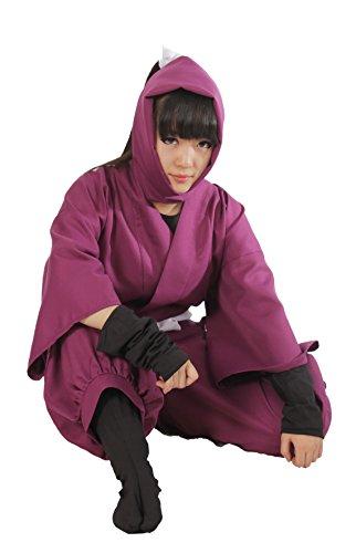 (Deep Purple) Ninja Cosplay Costume Set 4th grade Nintama Taro (japan (Kostüme Ninja Purple)