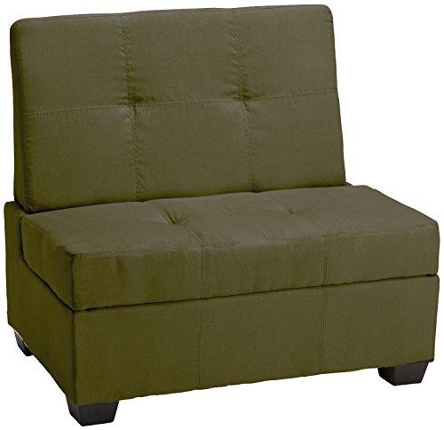 Epic Furnishings Butler Microfiber Upholstered - Epic Furnishings Butler Microfiber Upholstered Tufted Padded Hinged Storage Ottoman Bench