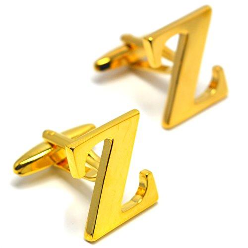 MESE London Buchstaben Alphabet Buchstaben Manschettenknöpfe Initiale - Buchstabe Z (Kostüme Aus Stahl Erwachsenen Mann)