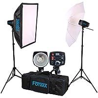 Fotima FTF-160 - Kit estudio flash, 2 x 160 W