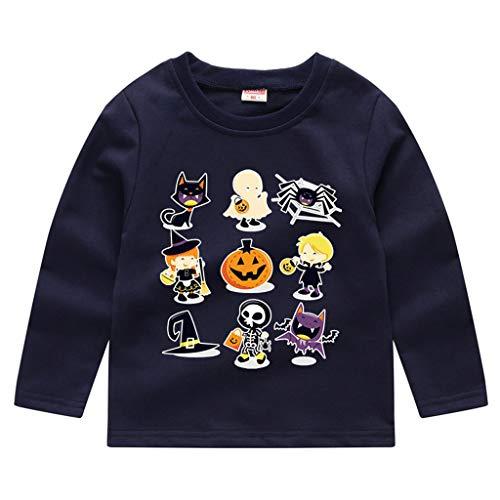 BaZhaHei Halloween Kostüm KinderKleinkind Baby Kinder Jungen Mädchen Halloween Kürbis Sweatshirt Pullover Tops T-Shirt Festival Cosplay Halloween Outfits (Mädchen Superheld Tutu Kostüm)