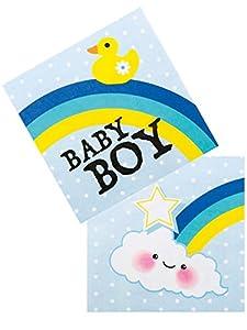 Boland - Servilletas de papel para bebé, talla única, 12 unidades, multicolor, BOL53223
