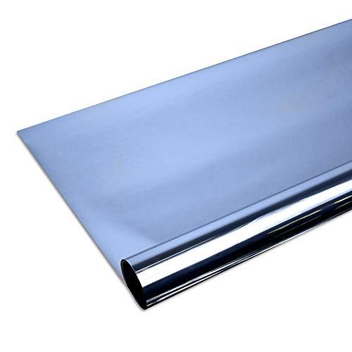 Solar Screen Fenster Folien Set Selbstklebende Spiegelfolie Blue 152cm Breite Folie Fensterfolie