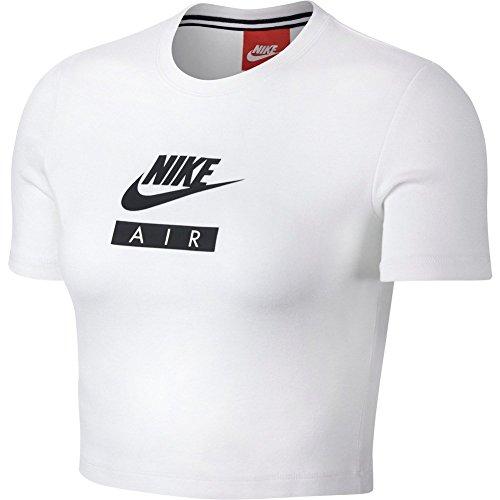 Nike W NSW Air–Top kurzarm für Damen S weiß / schwarz (Crop Nike Top)