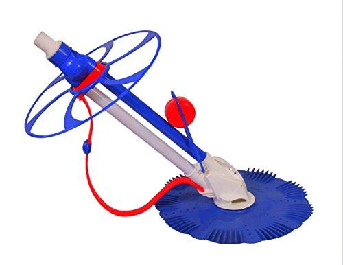 Powerfulpool mk02pac Robot Limpiador hidráulico para Piscina interrata y fuoriterra, Azul/Rojo/Blanco, 80x 45x 15cm