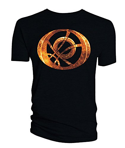 Doctor Strange T-Shirt Orange Symbol Oblong black Size M Titan Merchandise shirts