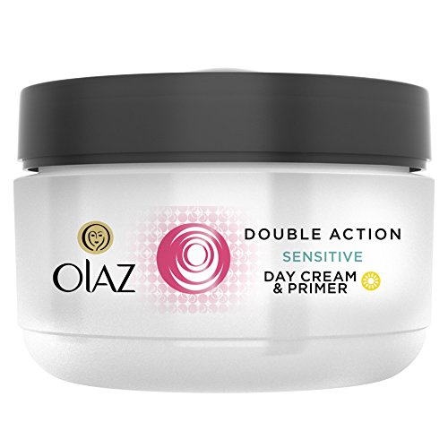 Olay Essentials Double Action Hydrating Care Day Cream for Sensitive Skin 50 ml Pot 4 x 50 ml