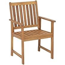 Greemotion Chaise De Jardin En Bois Avec Accoudoirs Borkum