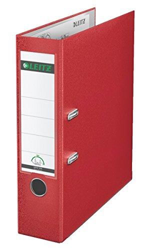 Leitz 10105025 Qualitäts-Ordner Plastik-Cover (A4, 8 cm Rückenbreite) rot