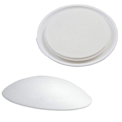 Unbekannt Türpuffer Ø40mm | 10 Stück | weiß | Selbstklebend BZW. Auch Zum nageln | Wandpuffer | Wandschutz