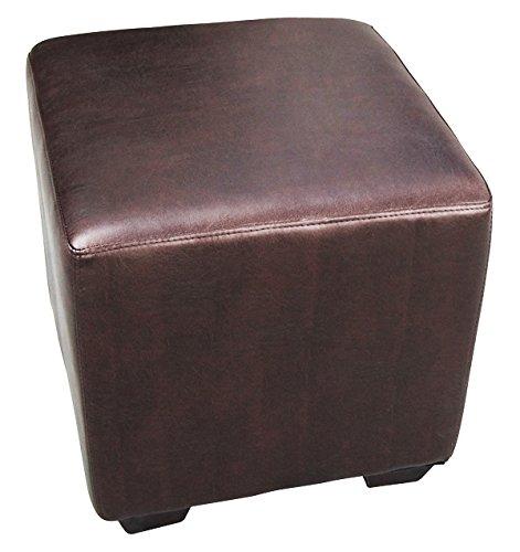 Sitzwürfel Sitzhocker Hocker Gepolstert Braun - 2001A/39 - Füße Wenge - Bezug Braun
