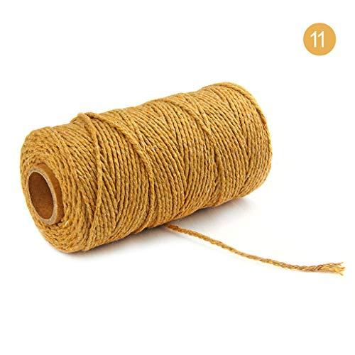 Mitlfuny-> Haus & Garten -> Wohnkultur,100 m lang / 100 Yard Reine Baumwolle verdreht Schnur Seil Handwerk Makramee Artisan String