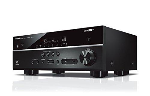 Yamaha AV-Receiver RX-V585 MC schwarz – 7.2 Netzwerk-Receiver mit herausragendem Music Cast Surround-Sound - für Kino-Atmosphäre zuhause – Kompatibel mit Alexa Sprachsteuerung - Netzwerk Av-receiver