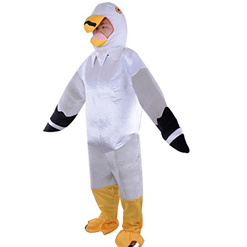 r Kostüm Bühnenkostüm Eltern-Kind Halloween-Kostüm, Möwe Erwachsener, M(Fabrikgröße: L ()
