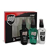 Bod Man Black by Parfums De Coeur Gift Set - Three 1.8 oz Body Sprays Includes Bod Man Black + Most Wanted + Really Ripped Abs / - (Men)